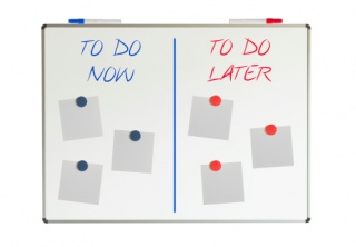 Whiteboard, do now and later