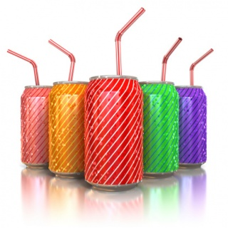 aluminum cans with straws
