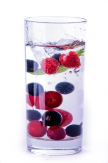 Glass Of Water With Berries